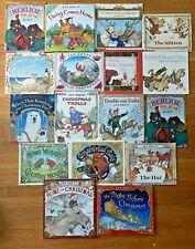 Lot 16 JAN BRETT Books Gingerbread Baby The Hat Home for Christmas