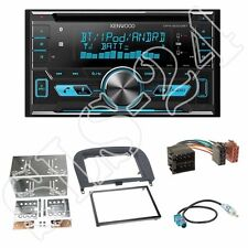 Kenwood DPX5000BT CD Radio +Mercedes SL(R230) 2-DIN Blende schwarz + ISO-Adapter