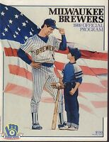 Milwaukee Brewers 1989 Official Program 080217nonjhe