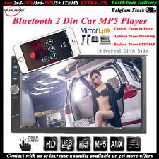 7'' 2 DIN Touch screen Autoradio Bluetooth Stereo TF/FM/Remoto Link Specchio MP5