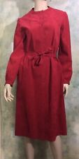 VINTAGE 70's HALSTON RED FUSCHIA ULTRASUEDE DRESS COAT JACKET