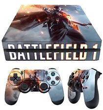 PS4 Fino Piel Battlefield 1 GUERRA MUNDIAL 01 + MANDO Pegatinas vinilo NUEVO LAY