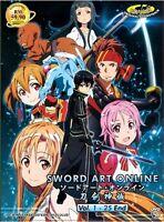 SWORD ART ONLINE (SEASON 1) - COMPLETE ANIME TV SERIES DVD (1-25 EPS)