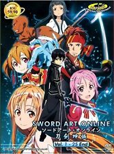 SWORD ART ONLINE (SEASON 1) - ANIME TV SERIES DVD (1-25 EPS) | BUY 1 FREE 1
