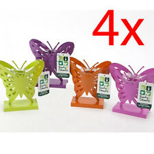 Set of 4 Metal Butterfly Tea Light Holder Candle T Lite Gift Decoration Home