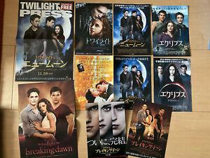 The TWILIGHT SAGA all FIVE films Japan flyer x9 Robert PATTINSON Kristen STEWART