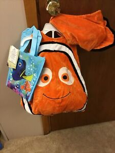 Disney Store Finding Nemo Plush Nemo Costume-size 6-12 Mo Body Hat Bag