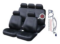 9 PCE Full Set of Black Leather Look Seat Covers for Chrysler Voyager Neon Sebri