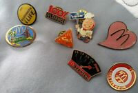 McDonald's Collectable Different Pins Lot Of 8
