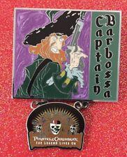 Disney Pirates Of The Caribbean CAPTAIN BARBOSA Legend Lives Dangle Pin LE 2000
