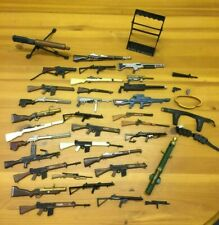 JOB LOT OF VINTAGE ACTION MAN GUNS - ASSAULT RIFLES/SNIPERS/SHOTGUNS/PISTOL/AMMO