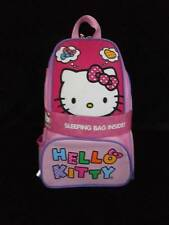 NEW Hello Kitty Backpack w/ Sleeping Bag Pink Polka Dots Sanrio
