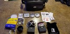 Camera Bag with Filters,Lens,Protective Covers,Adapter,Lot,Sony,New