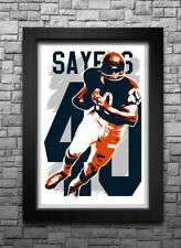 Gale Sayers art print/poster Chicago Bears Free S&H! Jersey