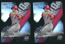 2020 TOPPS CHROME DECADES DOMINANCE 2 CT LOT MIKE TROUT ANGELS