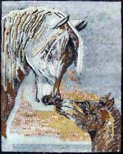 Mosaic Mural - Marble Horses Mosaic Designs Animals Mosaic Tile