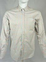 Bonobos Standard Fit Button Down Shirt Multi Color White Plaid Long Sleeve Small
