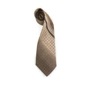 Mens Vintage Retro TOOTAL Geometric Crazy Pattern Striped 1970s Kipper Neck Tie