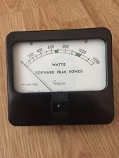 Simpson Watts Forward Peak Power Meter Model No.29 Part No.10871