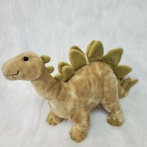 "19"" Applause Brontosaurus Dinosaur Green Brown Standing Plush Stuffed Toy B227"