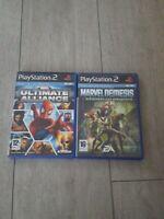 Marvel Nemesis L' avènement des imparfaits+ Ultimate Alliance PS2 Pal Fr Complet