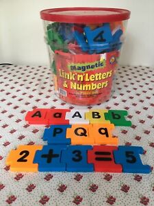 Learning Resources Magnetic Link 'N Count Letters & Numbers 135~Piece Set Rare