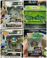 Funko POP! Rick and Morty SEALED BOX GameStop Exclusive Tony Crown #649 #650