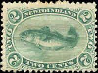 1870 Canada Mint H Newfoundland 2c F Scott #24  Stamp