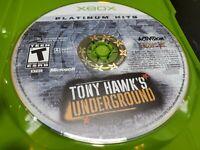 Tony Hawk's Underground Platinum Hits (Microsoft Xbox, 2003) DISC ONLY! TESTED!