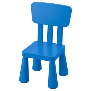IKEA MAMMUT Children's chair, indoor/outdoor/blue BRAND NEW, FAST SHIPPING