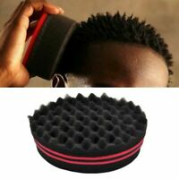 Double Side Barber Hair Brush Sponge Twist Dreads Coil Afro Curl Wave Magic Tool