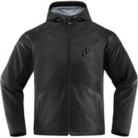 Icon Merc Stealth Black WP1 D3O Armoured Motorcycle Motorbike Jacket