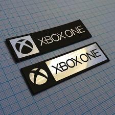 2 x Xbox One Metallic Logo Sticker Badge - 70 mm / 20 mm