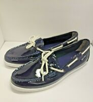 Cole Haan Womens Nantucket Camp Moc Navy Boat Shoes Size 8.5 Leather NEW