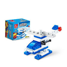 Mini Police Yacht City Function Car Building Blocks Children Toys Helicopter