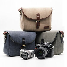 UK Canvas Travel Shoulder Messenger Bag for Canon Nikon Sony DSLR Digital Camera
