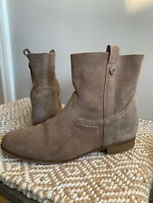 WOMENS FRYE & Co. Gray Leather Ankle Boots Booties Size 8 EUC