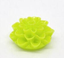 5x Resin Harz Blume, Grün, 8x16mm Schmuck Basteln Harz Blume Cabochons DIY