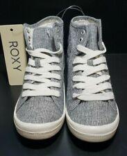 Roxy Rory Mid Canvas Sneaker Shoe - Grey Women Size 6.5