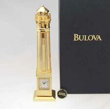 Bulova Miniature Alcatraz Lighthouse Clock B0427 Solid Brass