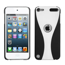 For Apple iPod Touch 5th Gen 5G White/Black Wave Phone Back Case Cover