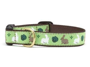 Up Country - Dog Design Collar - Made In USA - Garden Rabbit - XS S M L XL XXL