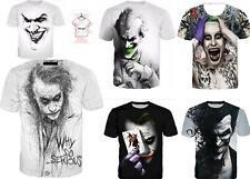 372563175 New DC Comics Heath Ledger Joker Suicide Squad Summer 3D Print T-Shirt S -