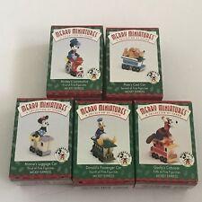 Hallmark DISNEY Mickey Mouse Express TRAIN Minnie Donald Goofy Pluto Ornaments