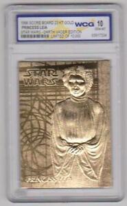 Princess Leia 1996 Score Board Star Wars 23 Kt Gold Card Graded Gem Mint 10