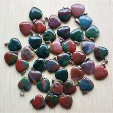 Natural India Agate Heart-shaped Pendant Pendant Bead Wholesale 50pcs/lot 20mm