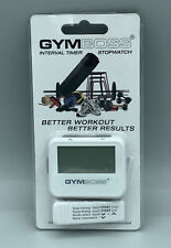 GYMBOSS INTERVAL TIMER & STOPWATCH WHITE