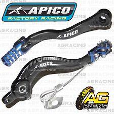Apico Black Blue Rear Brake & Gear Pedal Lever For Husqvarna TE 300 2015 MotoX