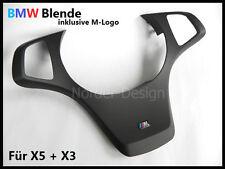 BMW X5 E53 + X3 E83 Lenkradspange schwarz anthrazit Lenkradblende M-Logo MFL NEU
