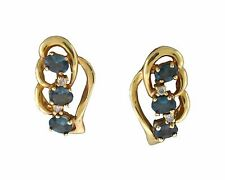 NATURAL Alexandrite Diamond Earring in 14K Yellow Gold with Certificate!!